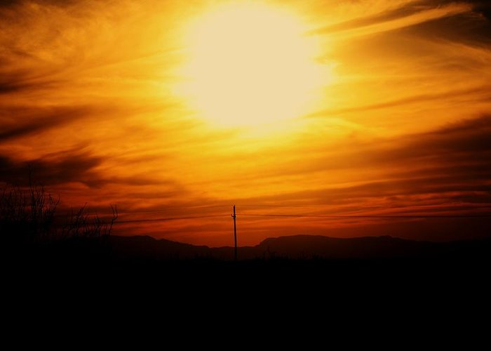 Sunst Greeting Card featuring the photograph Sunset Of Tularosa by Jessica Shelton