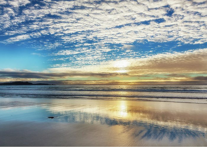 Tranquility Greeting Card featuring the photograph Sunset On Carmel Beach, California by Alvis Upitis
