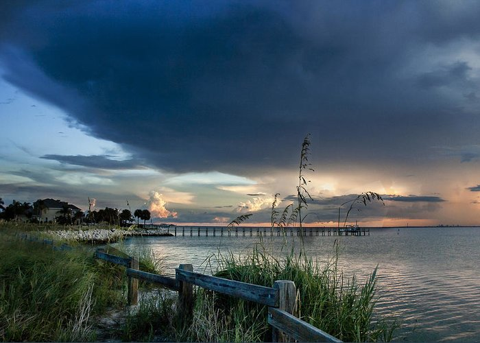 Sunset Greeting Card featuring the photograph Sunset On Tampa Bay by Norman Johnson