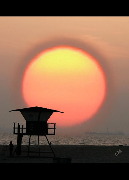 Sun Greeting Card featuring the photograph Sunset On The Beach by Ben and Raisa Gertsberg