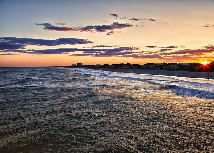 Wrightsville Beach Greeting Card featuring the photograph Sunset On The Coast by Chris Brehmer Photography