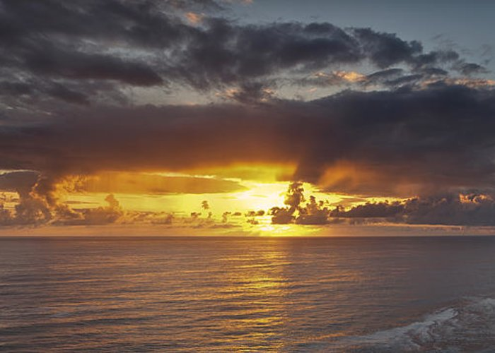 Sunset Greeting Card featuring the photograph Sunset Panorama by Andrew Soundarajan