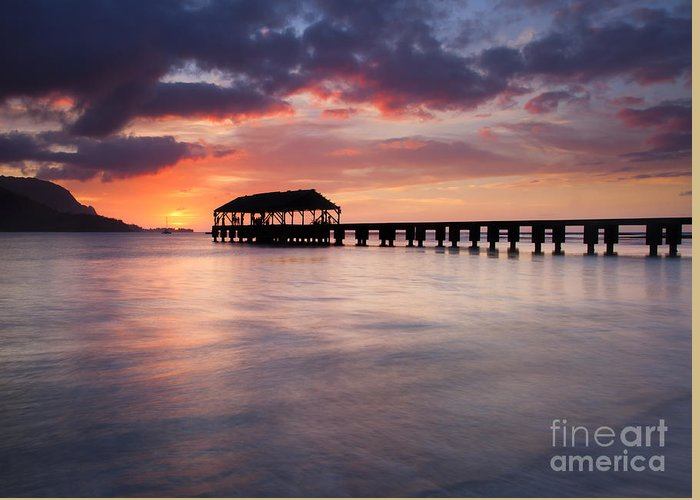 Pier Greeting Card featuring the photograph Sunset Pier by Mike Dawson