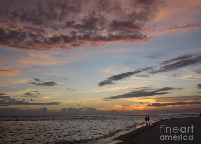 Sunset Greeting Card featuring the photograph Sunset Stroll by Elizabeth Carr