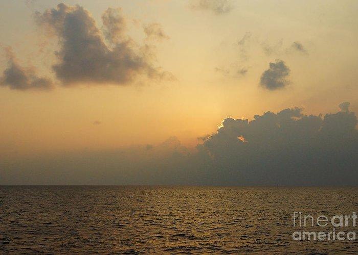 Oahu Island Hawaii Greeting Card featuring the digital art sunset time Oahu by Nur Roy