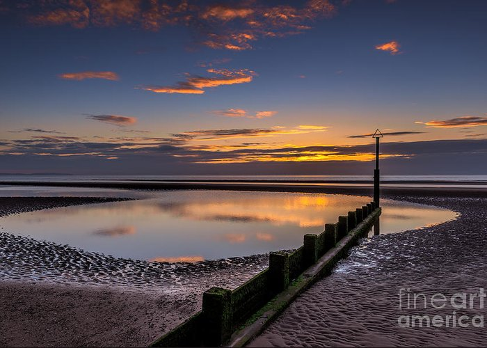 Bay Greeting Card featuring the photograph Sunset Wales by Adrian Evans