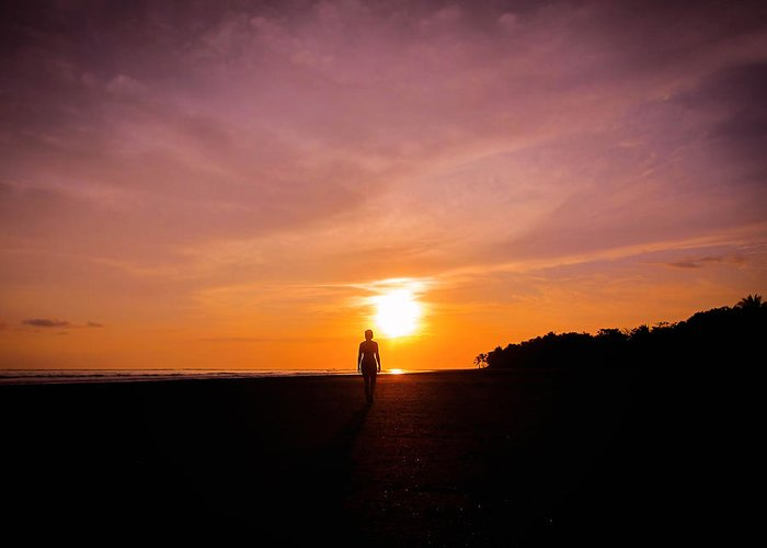 Beautiful Greeting Card featuring the photograph Sunset Walk by Nicklas Gustafsson