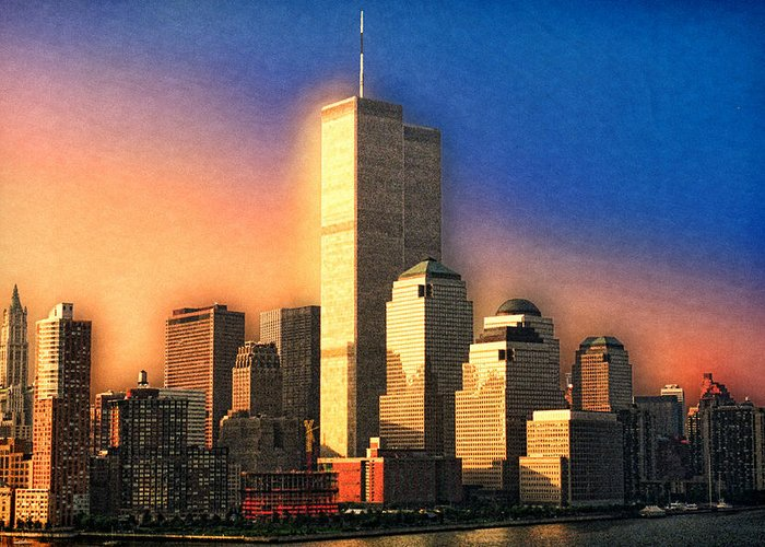 New York City Greeting Card featuring the photograph Sunswept by Joann Vitali