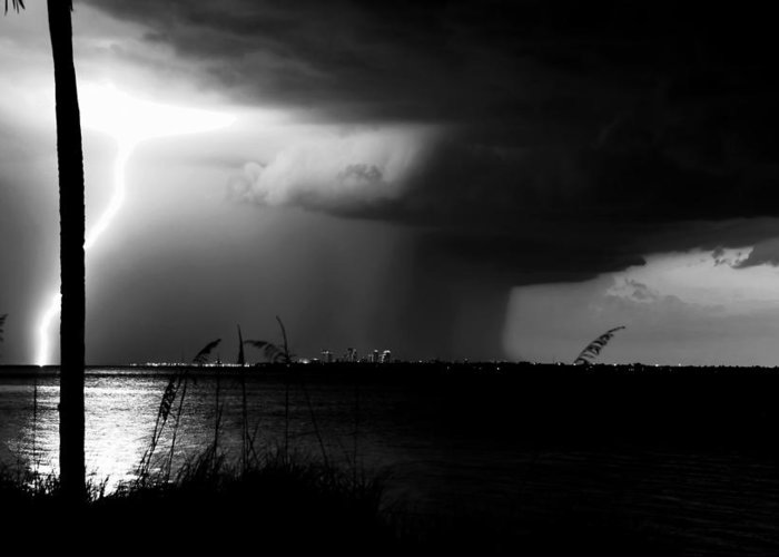 Severe Weather Greeting Card featuring the photograph Super Cell Over Tampa Bay by David Lee Thompson