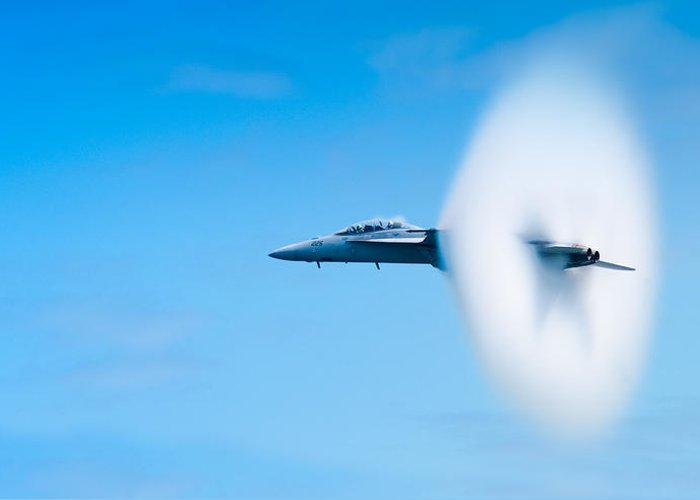 F18 Greeting Card featuring the photograph Super Sonic by Sebastian Musial