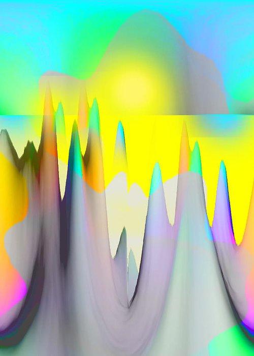 Landscape Greeting Card featuring the digital art Super Sunshine by Elisabet Bondesson