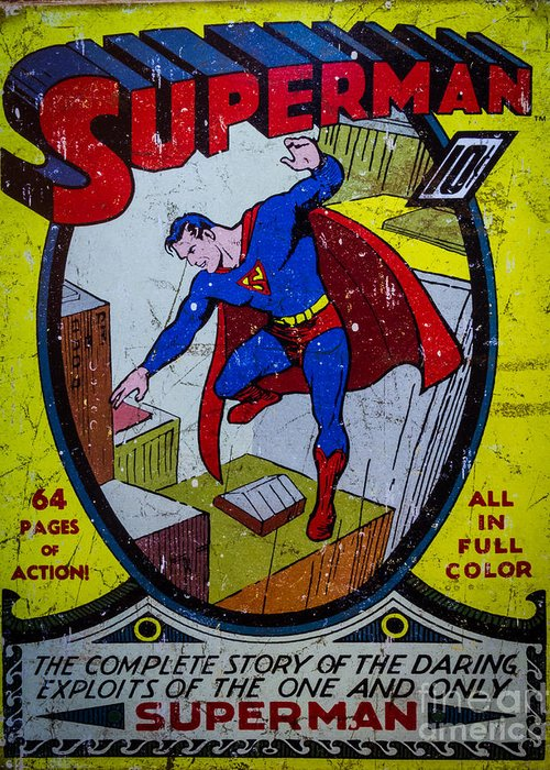 Superman Greeting Card featuring the photograph Superman by Mitch Shindelbower