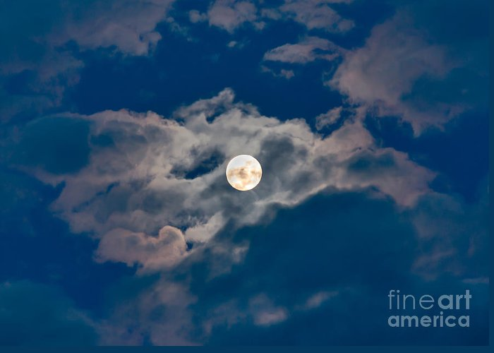 Moon Greeting Card featuring the photograph Supermoon by Robert Bales