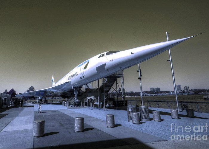 Concord Greeting Card featuring the photograph Supersonic by Rob Hawkins