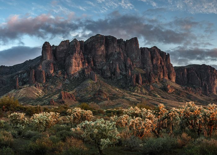 Superstition Mountains Greeting Cards