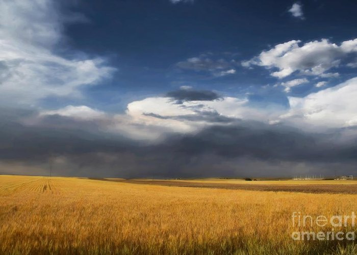 Clouds Greeting Card featuring the photograph Sure Wish It Would by Jon Burch Photography