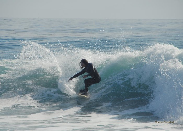 Surfing Greeting Card featuring the photograph Surfing In The Sun by Donna Blackhall