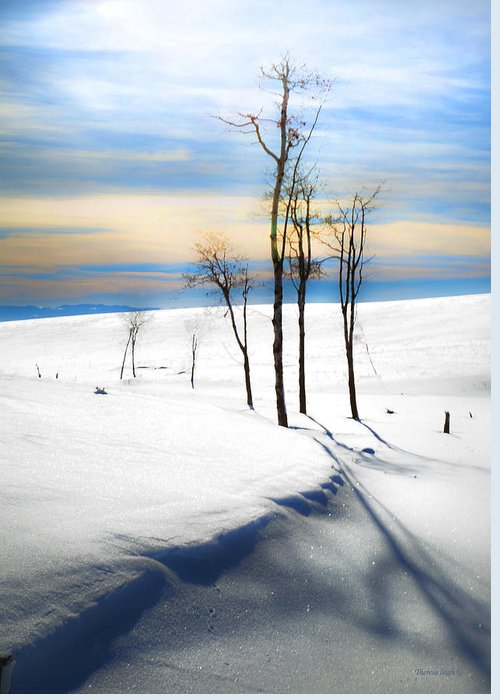 Snowscape Greeting Card featuring the photograph Surreal Snowscape by Theresa Tahara