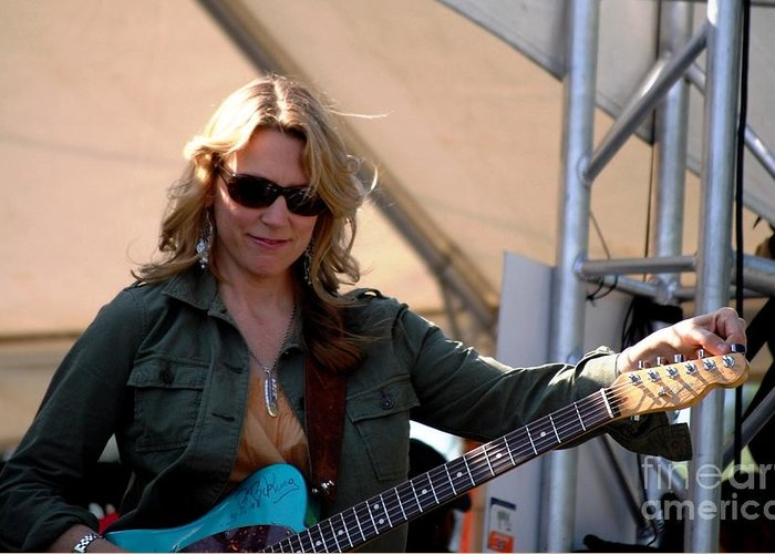 Music Greeting Card featuring the photograph Susan Tedeschi by Angela Murray
