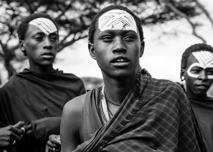 Maasai Greeting Card featuring the photograph Suspicion by Aurora Werner