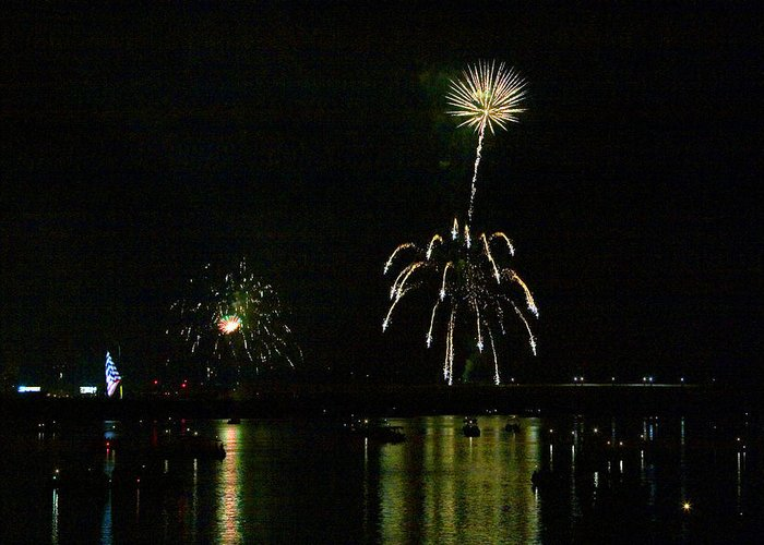 Boats Greeting Card featuring the photograph Susquehanna 4th Of July Spectacle by Gene Walls