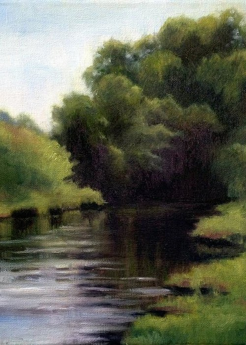 Swan Creek In Hickman County Greeting Card featuring the painting Swan Creek by Janet King