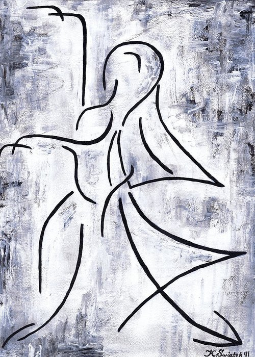 Dancer Greeting Card featuring the painting Swan Lake by Kamil Swiatek