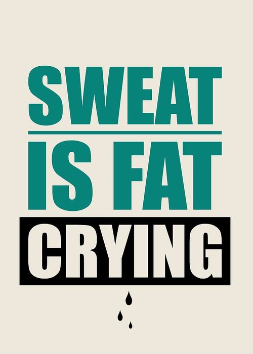 Sweat Digital Art Greeting Cards