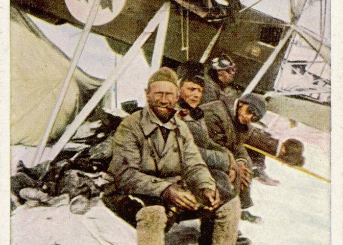 Lundborg Greeting Card featuring the photograph Swedish Aviator Lundborg, Who by Mary Evans Picture Library