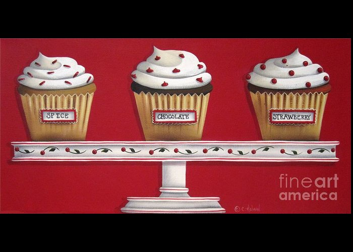 Art Greeting Card featuring the painting Sweet Delights by Catherine Holman
