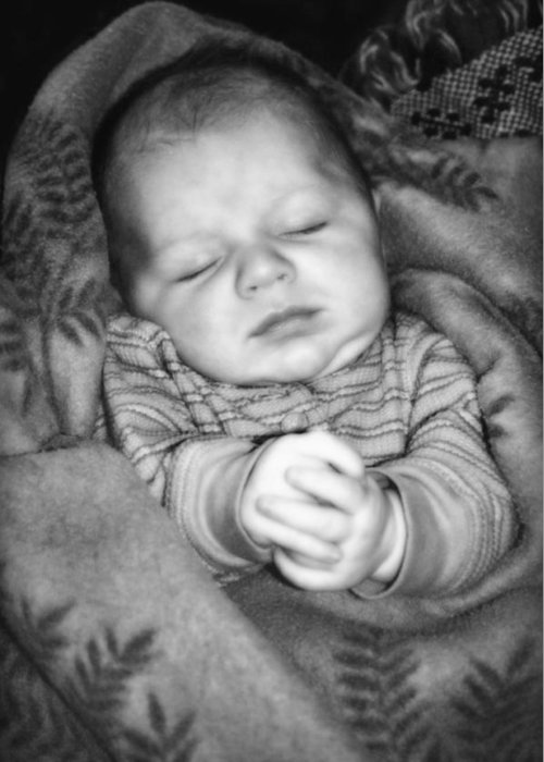 Baby Greeting Card featuring the photograph Sweet Dreams by Susan Leggett