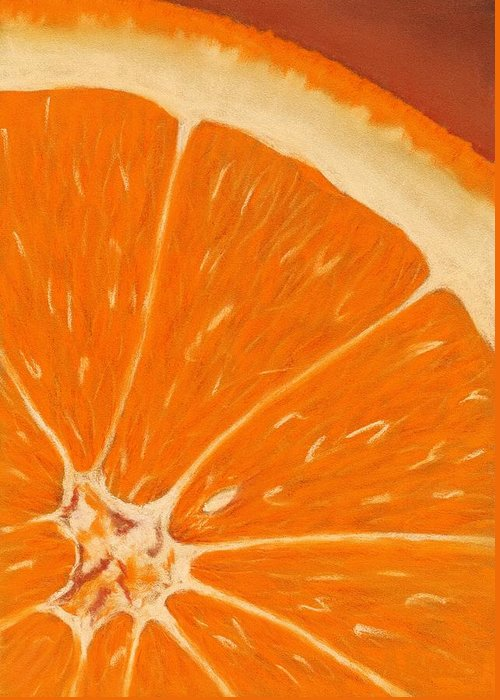 Malakhova Greeting Card featuring the painting Sweet Orange by Anastasiya Malakhova