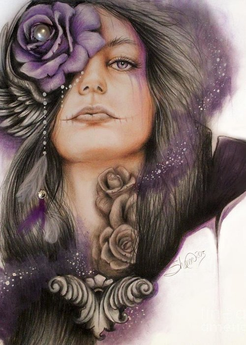 Purple Haze Drawings Greeting Cards