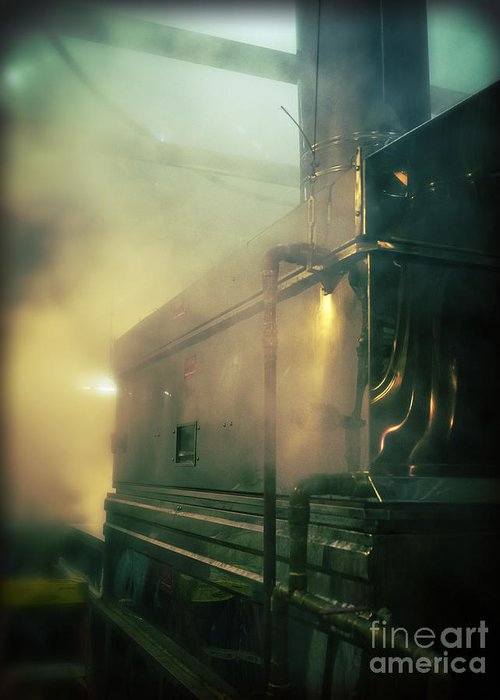 Maple Greeting Card featuring the photograph Sweet Steam by Edward Fielding