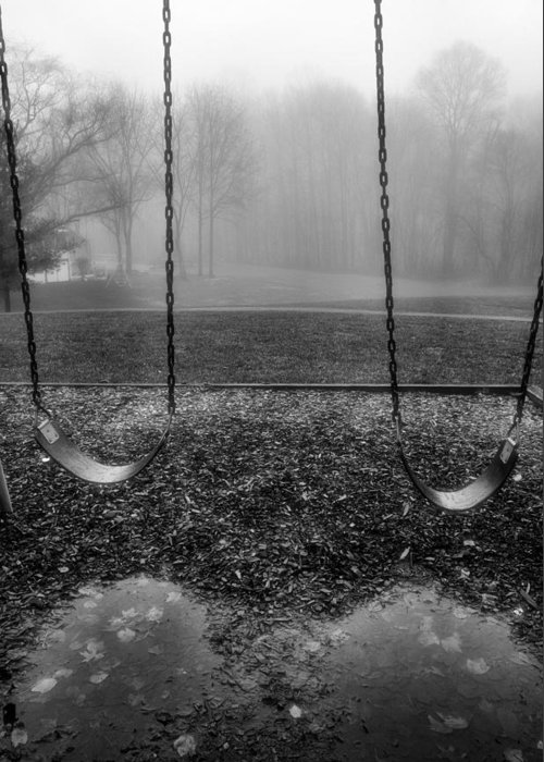 Swings Greeting Card featuring the photograph Swing Seats I by Steven Ainsworth