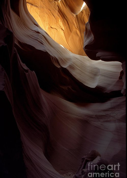 Slot Canyons Greeting Card featuring the photograph Swopes by Kathy McClure