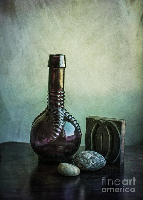 Bottle Greeting Card featuring the photograph Sybil's Bottle by Terry Rowe