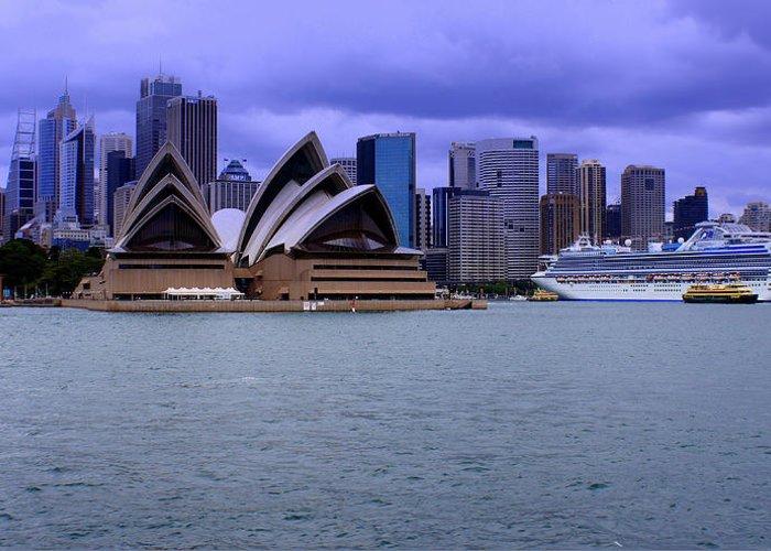 Copyright Derektxfactor Greeting Card featuring the photograph Sydney by DerekTXFactor Creative