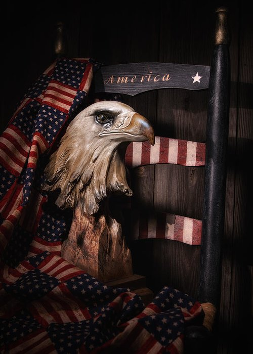 Eagle And Flag Greeting Cards