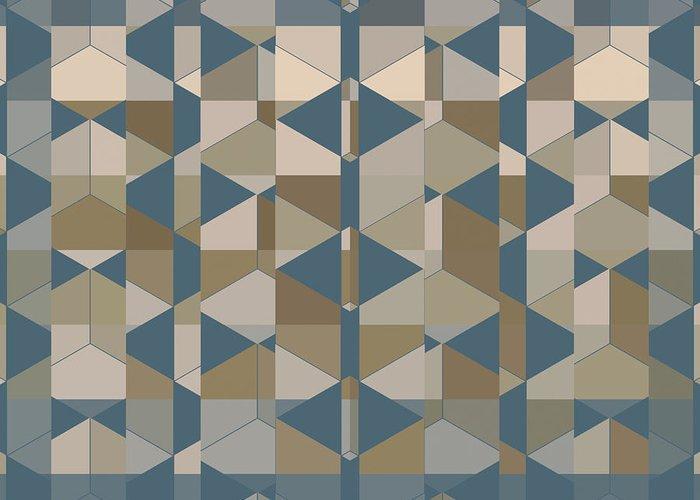 Fractal Greeting Card featuring the digital art Symmetric Gravity by Sascha Henn