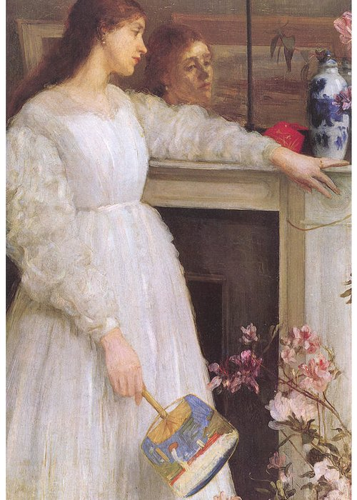 James Abbott Mcneill Whistler Greeting Card featuring the painting Symphony In White No 2 The Little White Girl by James Abbott McNeill Whistler
