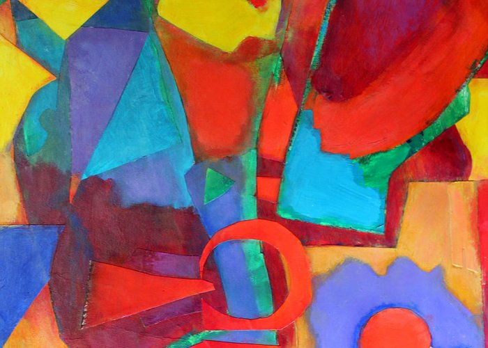 Abstract Expressionism Greeting Card featuring the mixed media Syncopated by Diane Fine