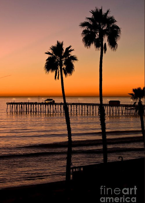 Seaweed Greeting Card featuring the photograph T Street Pier San Clemente California From The Book My Ocean by Artist and Photographer Laura Wrede