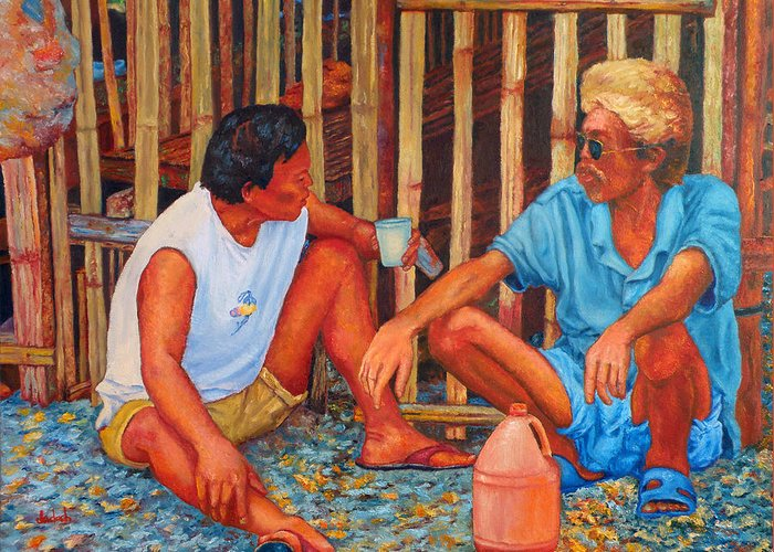 Tagay Greeting Card featuring the painting Tagay by Michael Jadach