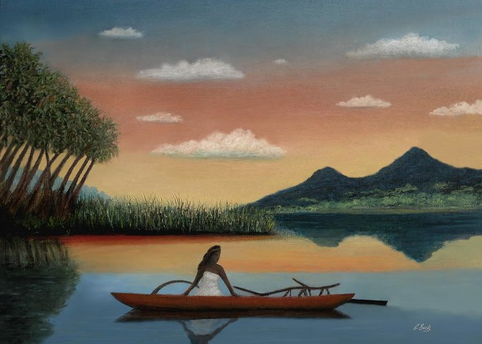 Tahiti Greeting Card featuring the painting Tahitian Morning by Gordon Beck