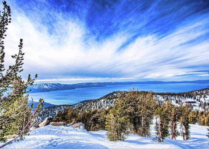 Scenics Greeting Card featuring the photograph Tahoe From Heavenly by Peter Stasiewicz
