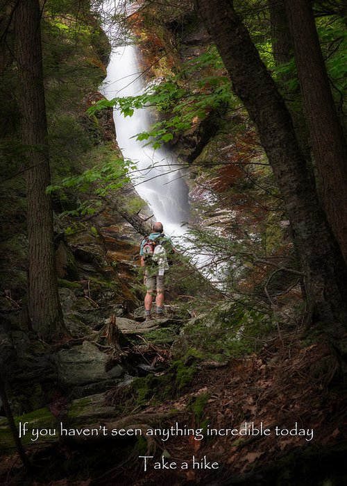 Race Brook Falls Greeting Card featuring the photograph Take A Hike by Bill Wakeley