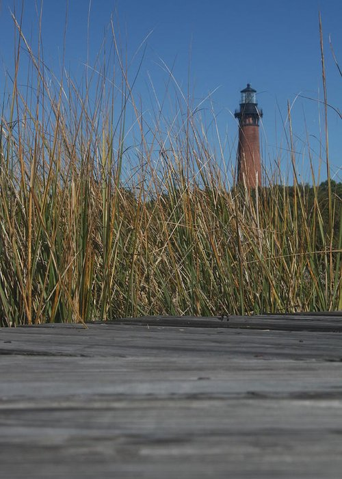 Lighthouse Greeting Card featuring the photograph Take A Walk by Darlene Neisess