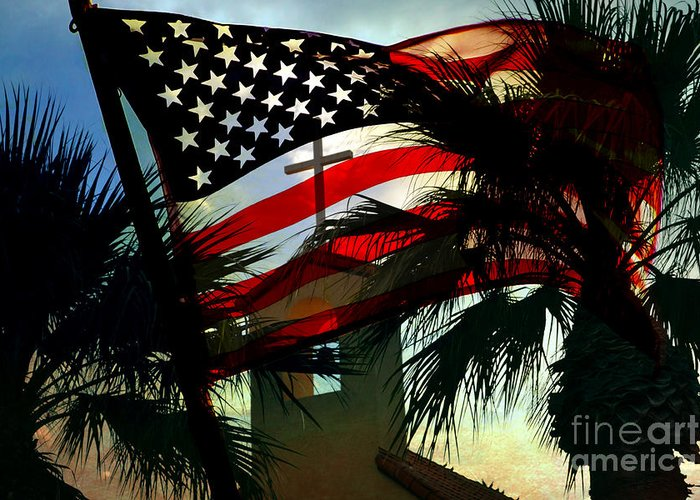 America Flag Greeting Card featuring the photograph Take Back America by Beverly Guilliams
