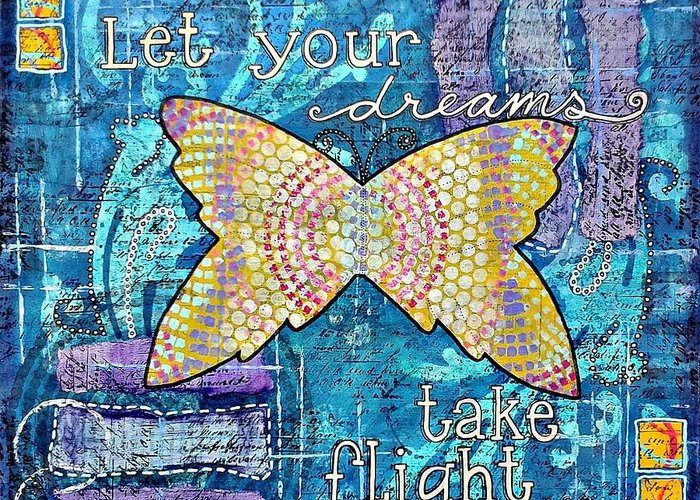 Dreams Greeting Card featuring the painting Take Flight by Zoe Ford